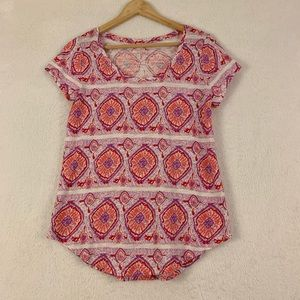 Lucky Brand Short Sleeves Top a Size Small